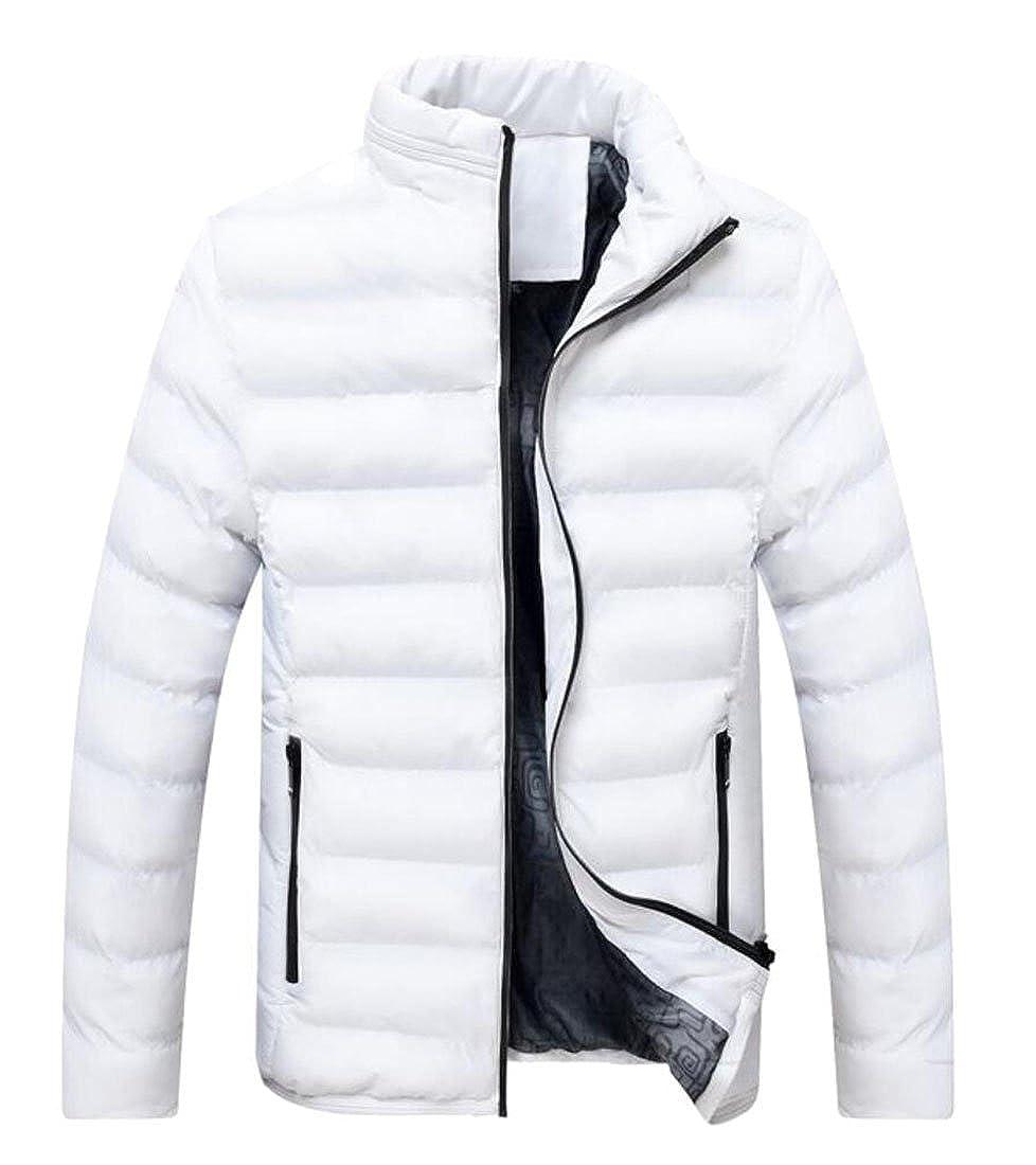 hower Mens Winter Warm Lightweight Packable Quilted Stand-Collar Down Puffer Jacket