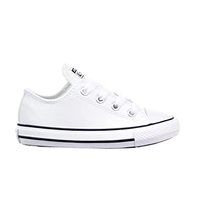 41e55593f5a2f6 Converse All Star OX Infants Toddlers Shoe White Black 750222f (9 M US