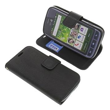 new product 81855 df5dd Cover for Doro Liberto 820 Mini book-style black case