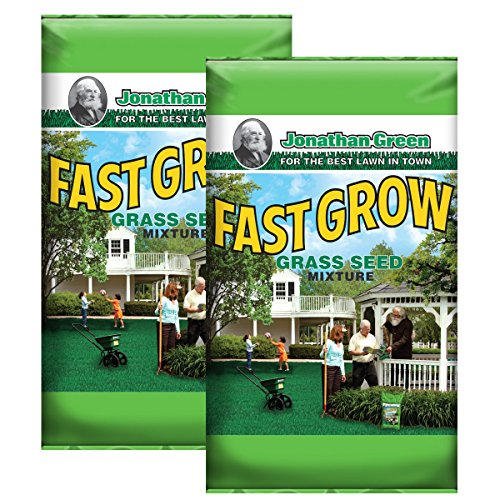 Jonathan Green 10820 Fast Grow Grass Seed Mix (2 bags of 3 Pounds) - Fast Grass Seed