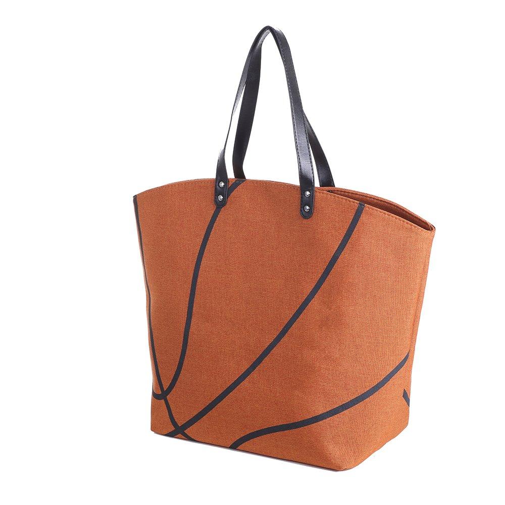 E-FirstFeeling 野球トートバッグ スポーツプリント 万能トートバッグ ラージ B0716C53T1 バスケットボール バスケットボール