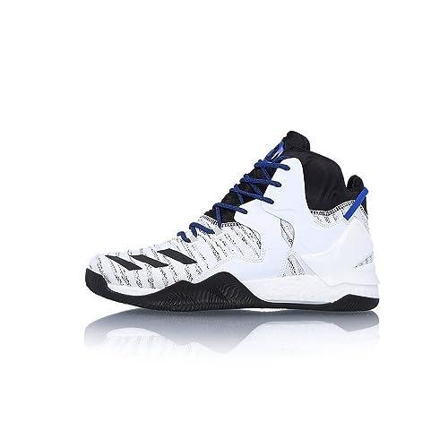 adidas D Rose 7 Primeknit, Scarpe da Basket Uomo, Bianco (Blanco (Ftwbla