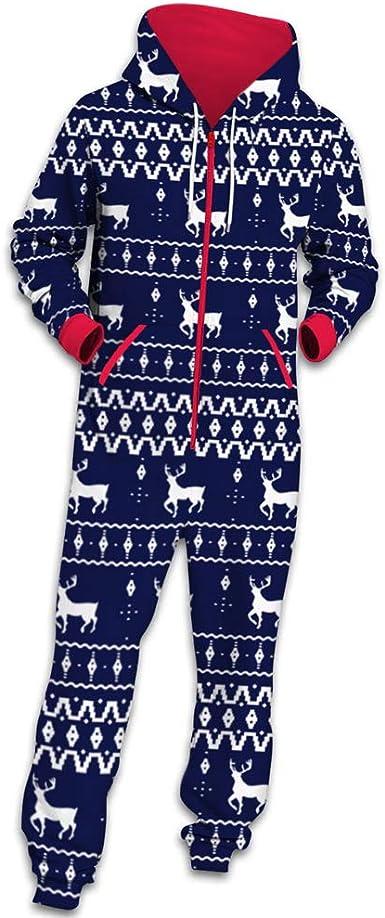 Chickwin Navidad Pijama de una Pieza con Capucha de Hombre ...