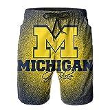 Michigan Sports Men's Summer Board shorts Bathing Casual Volley Beach Trunks