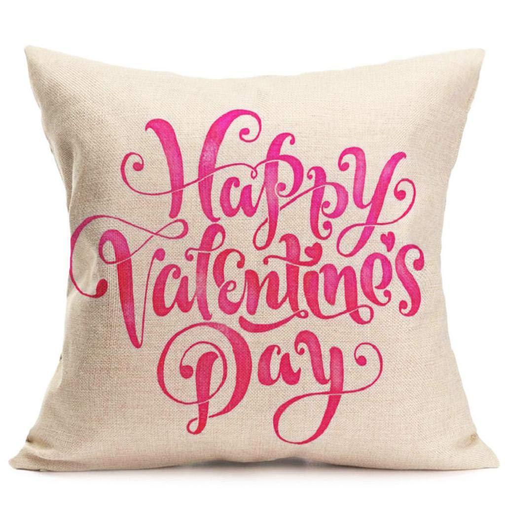 Fundas de Cojines,SHOBDW Regalo de San Valentin Los Amantes ...