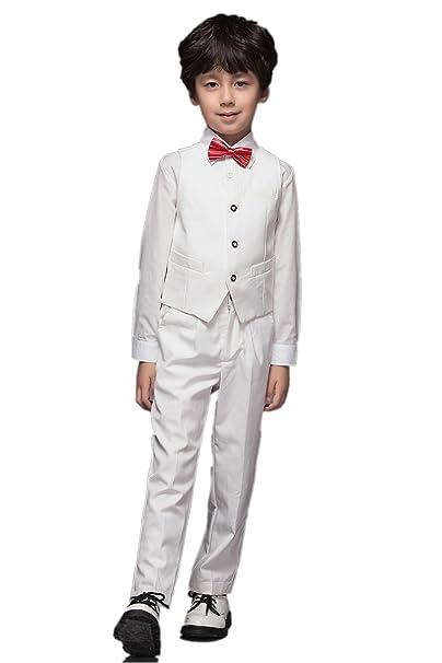 f9ef89b26 Yuanlu - Traje - para niño blanco blanco 8 años  Amazon.es  Ropa y  accesorios