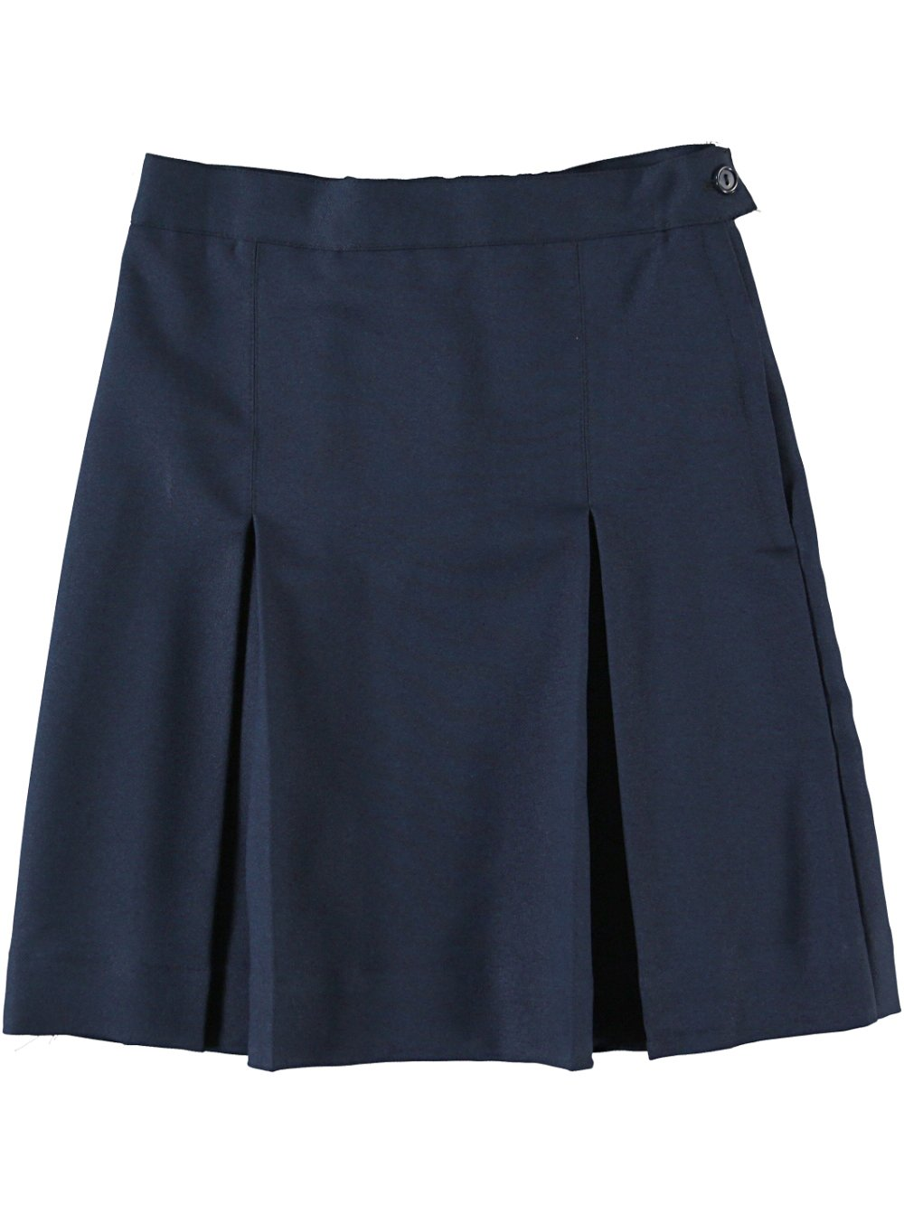 Bee Jays Special Order Cookie's Brand Box Pleat Skirt - Navy, 6X + 4''