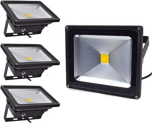 PrimLight Foco Led Exterior 4X 30W,Focos de Exterior,Proyector Led ...