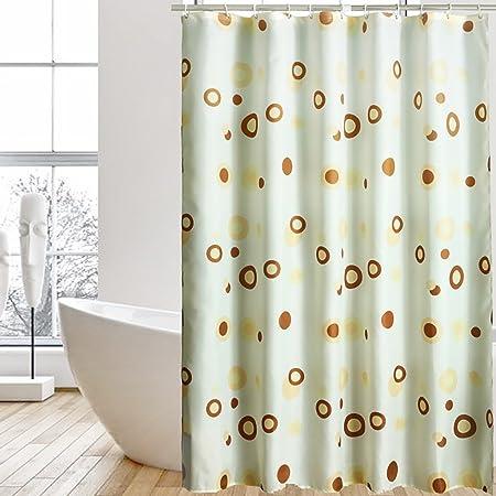 Shower Curtains Curtain Waterproof Thicken Mildew Polyester Cloth Partition Bathroom Hotel