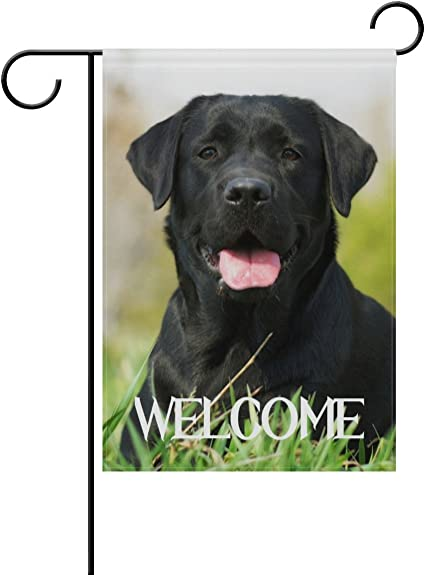 Tropicallife Welcome Black Labrador Dog On The Grass Polyester Garden Flag Banner 12 X 18 Inch Double Side Print Home Outdoor Patio Yard Garden Decor Flag Amazon Co Uk Garden Outdoors