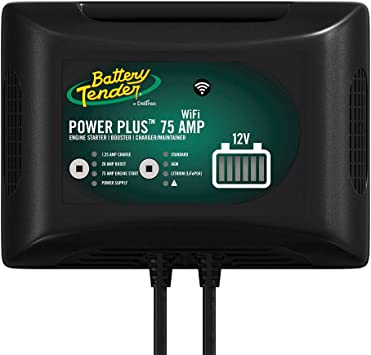 20Amp Battery Booster Battery Tender 022-0227-DL-WH Power Plus 75Amp Battery Charger for Batteries Big /& Small 1.25 Amp Charger and Maintainer Get Alerts with WiFi Capabilities