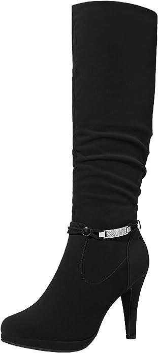 Dream Pairs Women's Knee High Platform Heel Boots