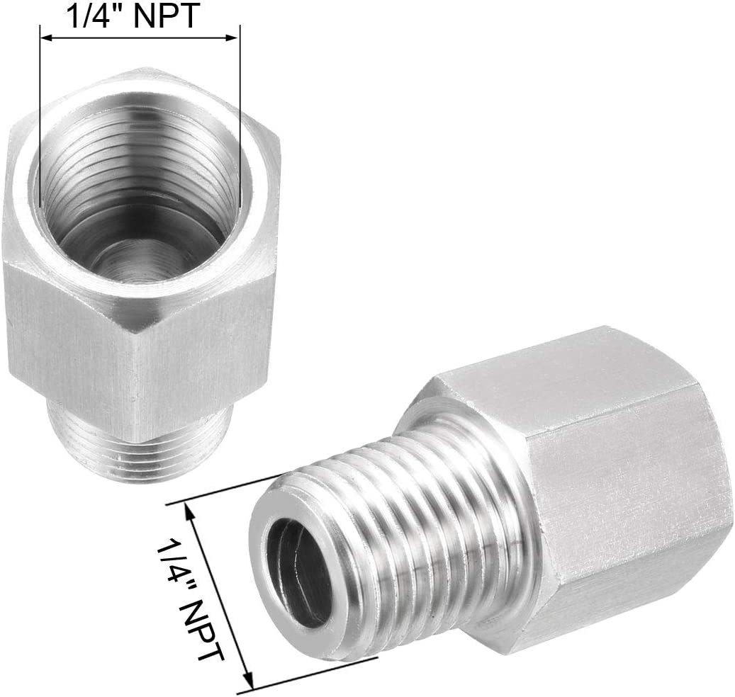 uxcell Reducing Pipe Fitting Reducer Adapter 1//4NPT Male x 1//4NPT Female