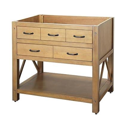 Foremost AVHOS3622 FM Avondale 36u0026quot; Vanity Cabinet Only Weathered Pine  sc 1 st  Amazon.com & Foremost AVHOS3622 FM Avondale 36