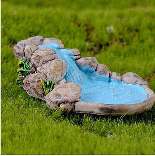 1pc Micro jardín del Paisaje de la decoración de la decoración de Las miniaturas para Stream Hada del césped de la montaña Ornamento Inicio Craft Accesorios: Amazon.es: Hogar
