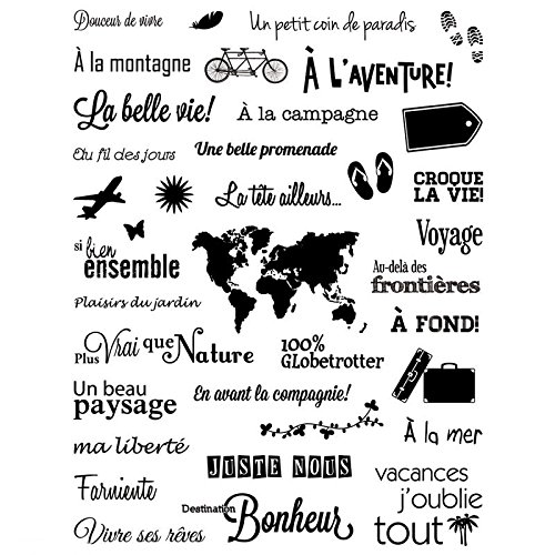French words Transparent Clear Silicone Stamp/Seal for DIY scrapbooking/photo album Decorative clear stamp sheets QYDZ24 French Words For Christmas