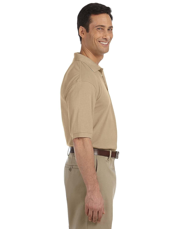 Easy Blend Polo with Pocket STONE 3XL Harriton Mens 5.6 oz