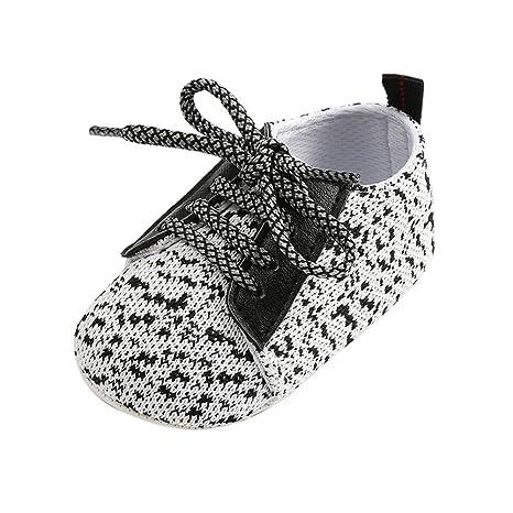 Morbuy Zapatos de Bebe Lino Primeros Pasos, Niño y Niña Recién Nacido Cuna Suela Blanda. Pasa ...