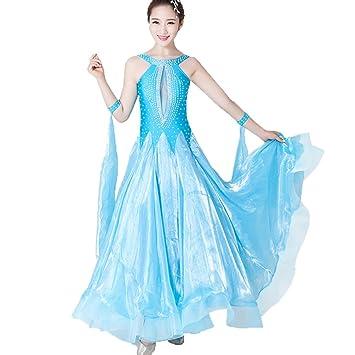 sans Manches Moderne Robes de Danse de Salon pour Les Femmes Creux ...