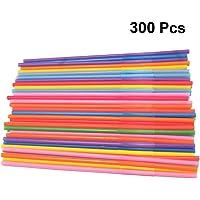 TOYANDONA 300 Piezas Pajitas de Plástico de Neón