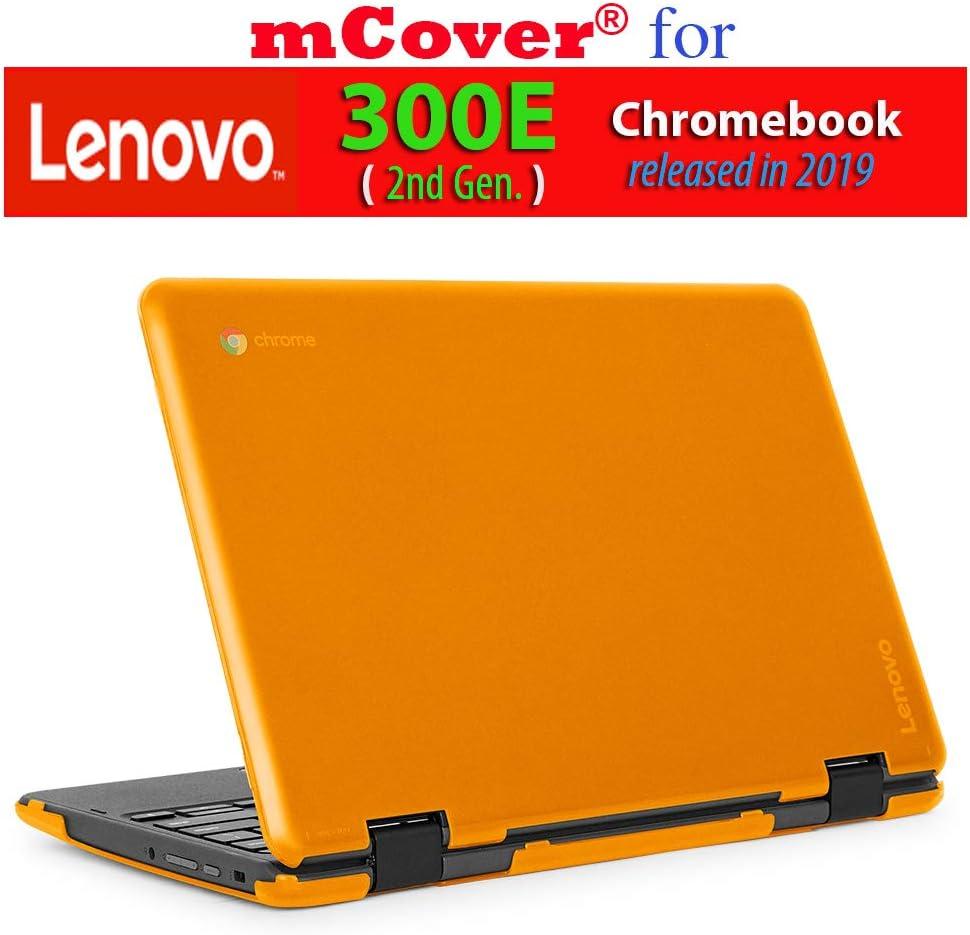 """mCover Hard Shell Case for 2019 11.6"""" Lenovo 300E (2nd Gen.) 2-in-1 Chromebook Laptop (NOT Fitting Lenovo 300E Windows & N21 / N22 / N23 /100E / 500E Chromebook) (Orange)"""