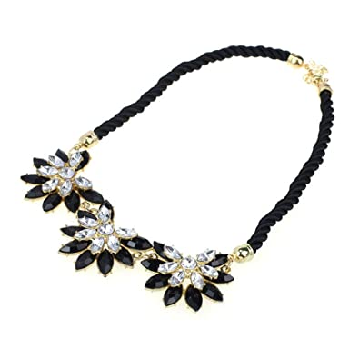 Ukamshop(TM)Women Lady Fashion Crystal Flower Pearl Resin Chunky Necklace Pendant kdbM9