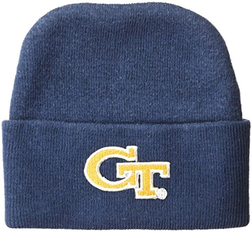 Two Feet Ahead NCAA Georgia Tech Infant Knit Cap, New Born, Navy (Georgia Tech Knit)