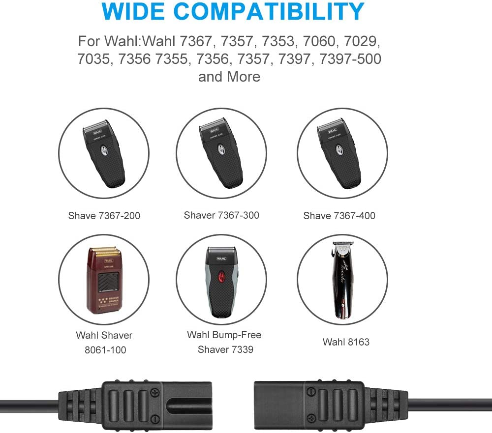 IBERLS - Adaptador de Cable de alimentación de 2 V para Wahl ...