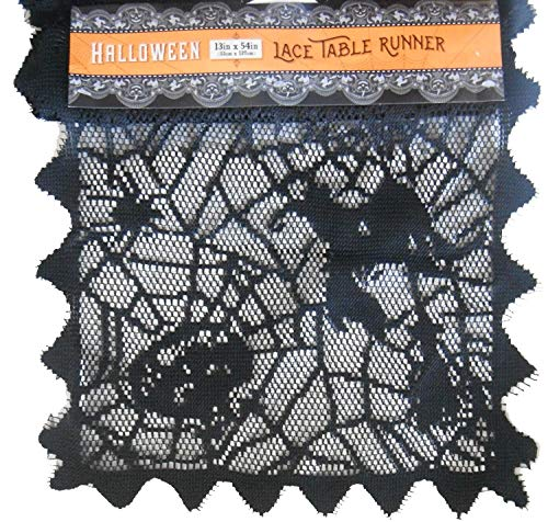 Nantucket Home Halloween Spider Web Lace Table -