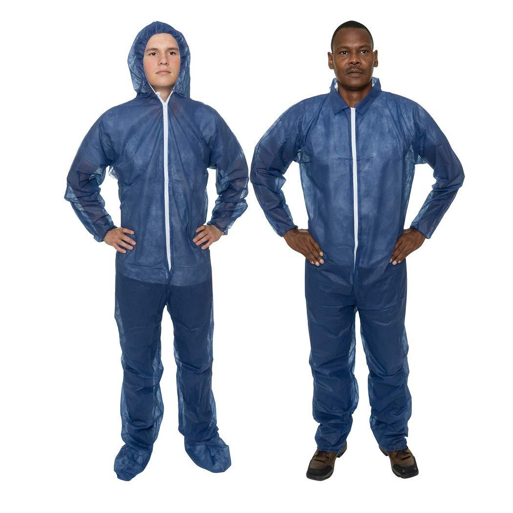 International Enviroguard Disposable Ultra Lightweight Coveralls, Blue (Case Of 25) by International Enviroguard (Image #2)