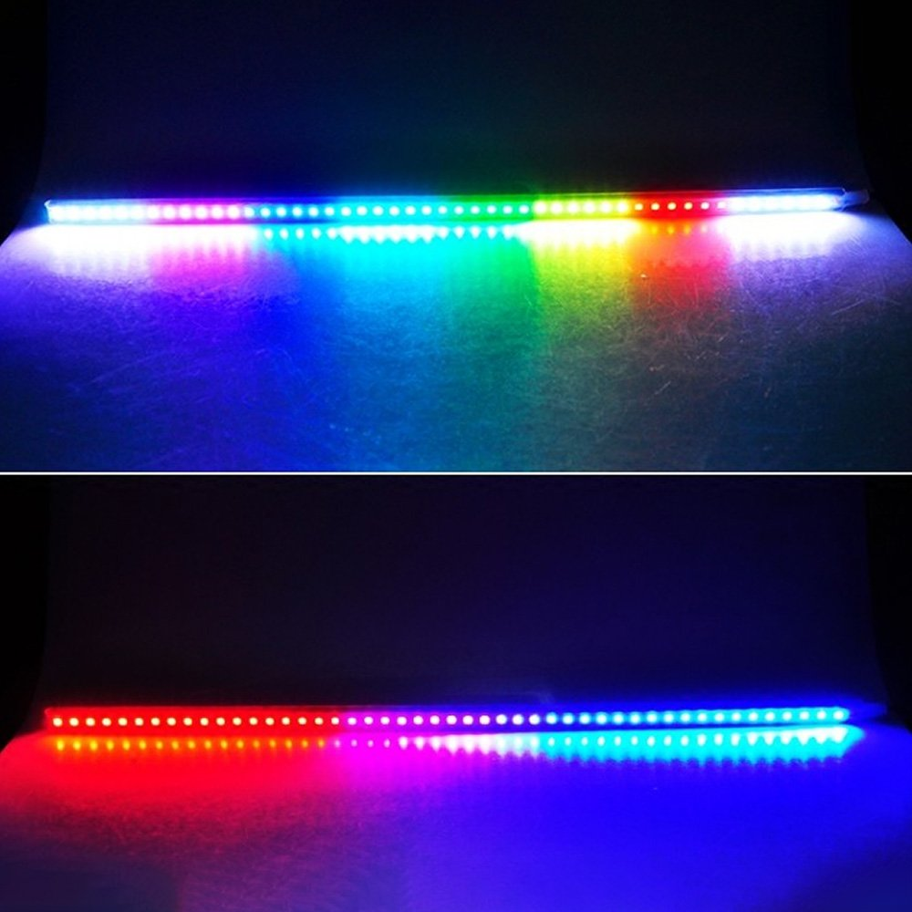 Leslaur 7 Color 48 SMD Scanning LED Knight Rider Strip Light Car Interior Lighting Decoration
