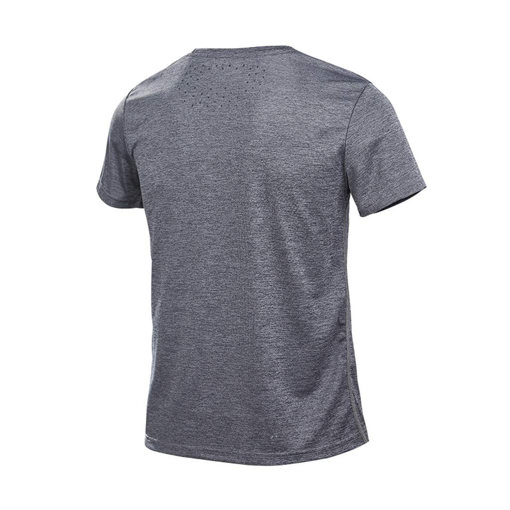 Funny T-Shirts for Men,Donci Mens Summer Casual O-Neck T-Shirt Fitness Sport Fast-Dry Breathable Top Blouse