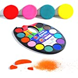 TBC The Best Crafts 12 Colors Watercolor Cake, Artist Paint Palette with Paint Brush, Educatioanl School Art Supplies for Kid
