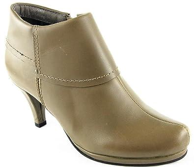 Andrea Conti Zapatos Botas Botines Piel Taupe 2123, Color ...