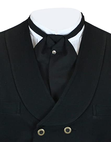 Men's Vintage Christmas Gift Ideas Mens Solid Puff Tie $25.95 AT vintagedancer.com