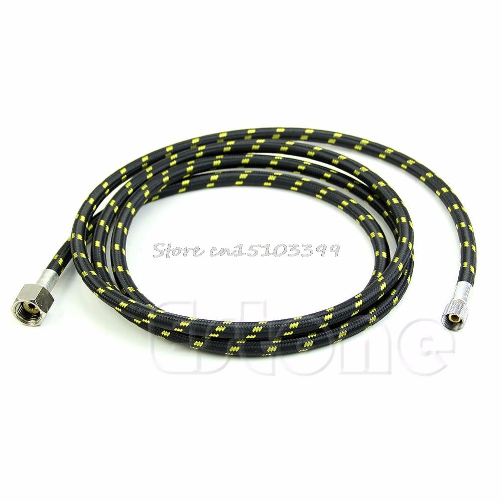 New 1Pc 180Cm 1/4'' To 1/8'' Spray Pen Woven Pipe Nylon Braided Airbrush Air Hose #G205M# Best Quality