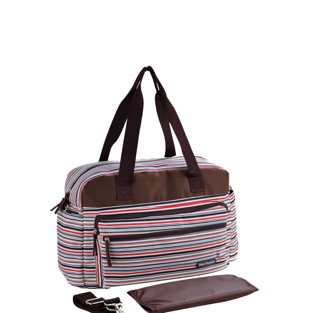 Insular Baby Bag For Mums With Changing Mat Large Waterproof Baby Chic Striped Changing Bag (Blue) CLEAR VIEW TRADING CO. LIMITED MS6382