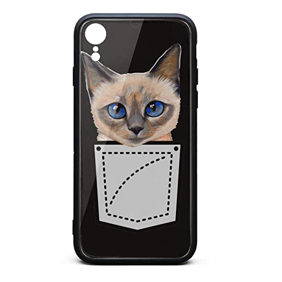 half off 37f6f a40bb Amazon.com: Custom Phone Case for iPhone XR Pocket Siamese cat ...