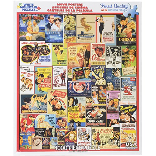 White Mountain Puzzles - Classic Movie Posters - 1,000 Piece