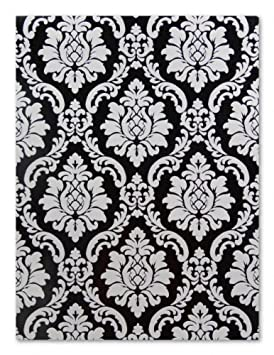 P S International 08521 40 Papier Peint Baroque Noir Blanc Baroque