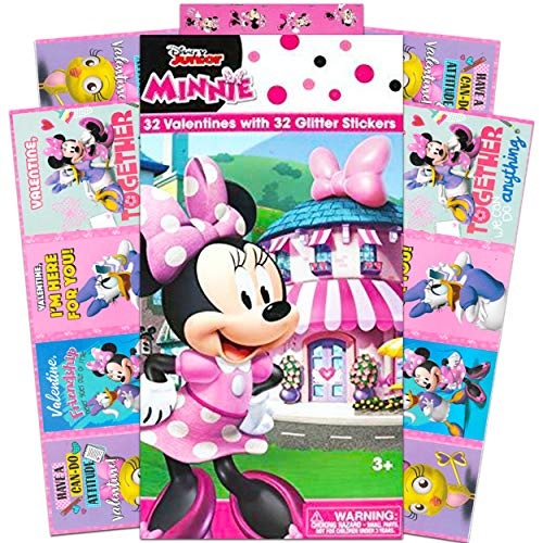 Disney Minnie Mouse Box of 32 Valentines Cards