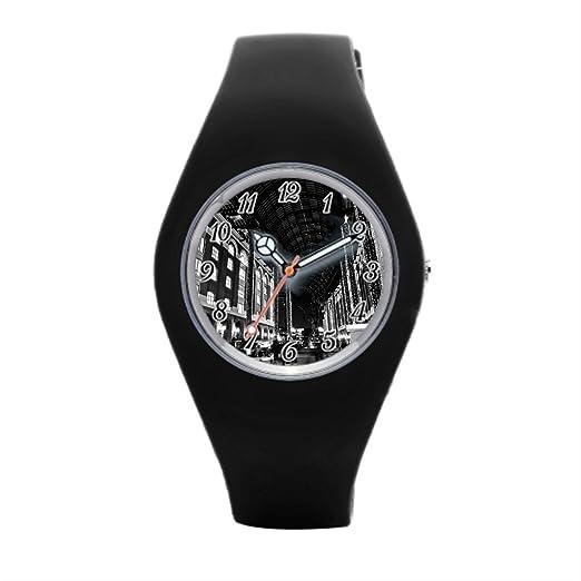 papibaby correa de silicona relojes cuadrados mejor deporte relojes: Amazon.es: Relojes