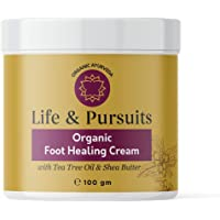Life & Pursuits Foot Cream for Dry Cracked Feet (100 gm) - Softening Moisturiser and Heel Damage Repair Ayurvedic Balm…