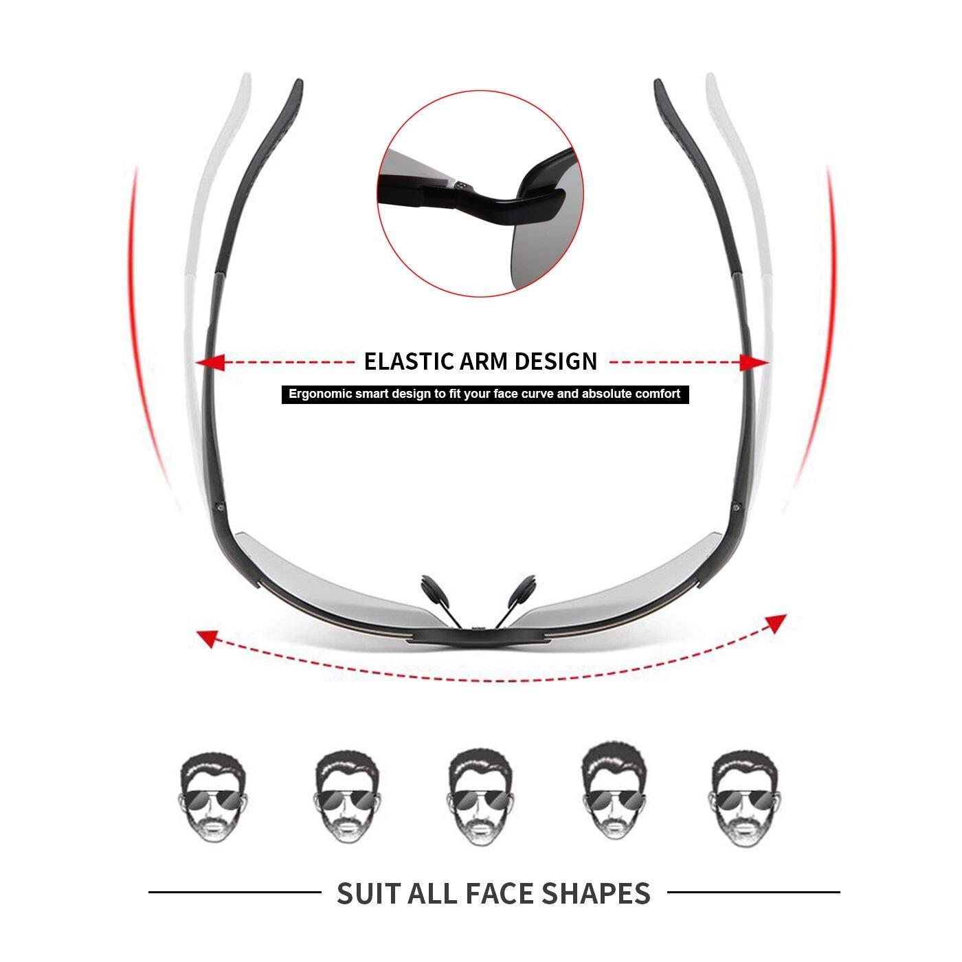 Amazon.com: Gafas de sol polarizadas fotocromáticas para ...
