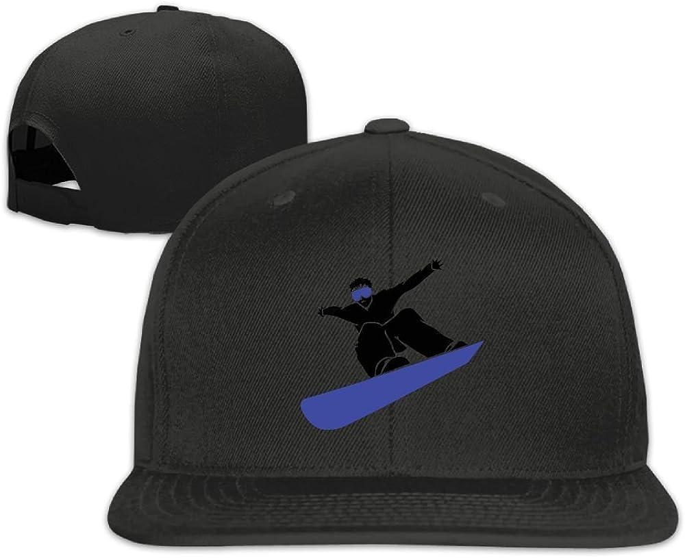 Thirdoone Unisex Cool Skateboard Style Flat Bill Baseball Cap Lightweight Snapbacks Hat