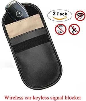 MONOJOY Farday Bags Car Key Signal Blocker Case Keyless Entry Fob Guard Signal Blocker Pouch Bag Healthy Cell Phone Privacy Protection Security WiFi//GSM//LTE//NFC//RF 2 Pack Antitheft Lock Devices