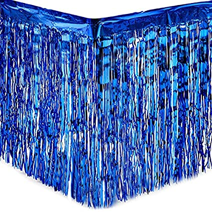 Party Metallic Fringe Table Skirt Foil Tinsel Tassel Table Wall Curtain Decor