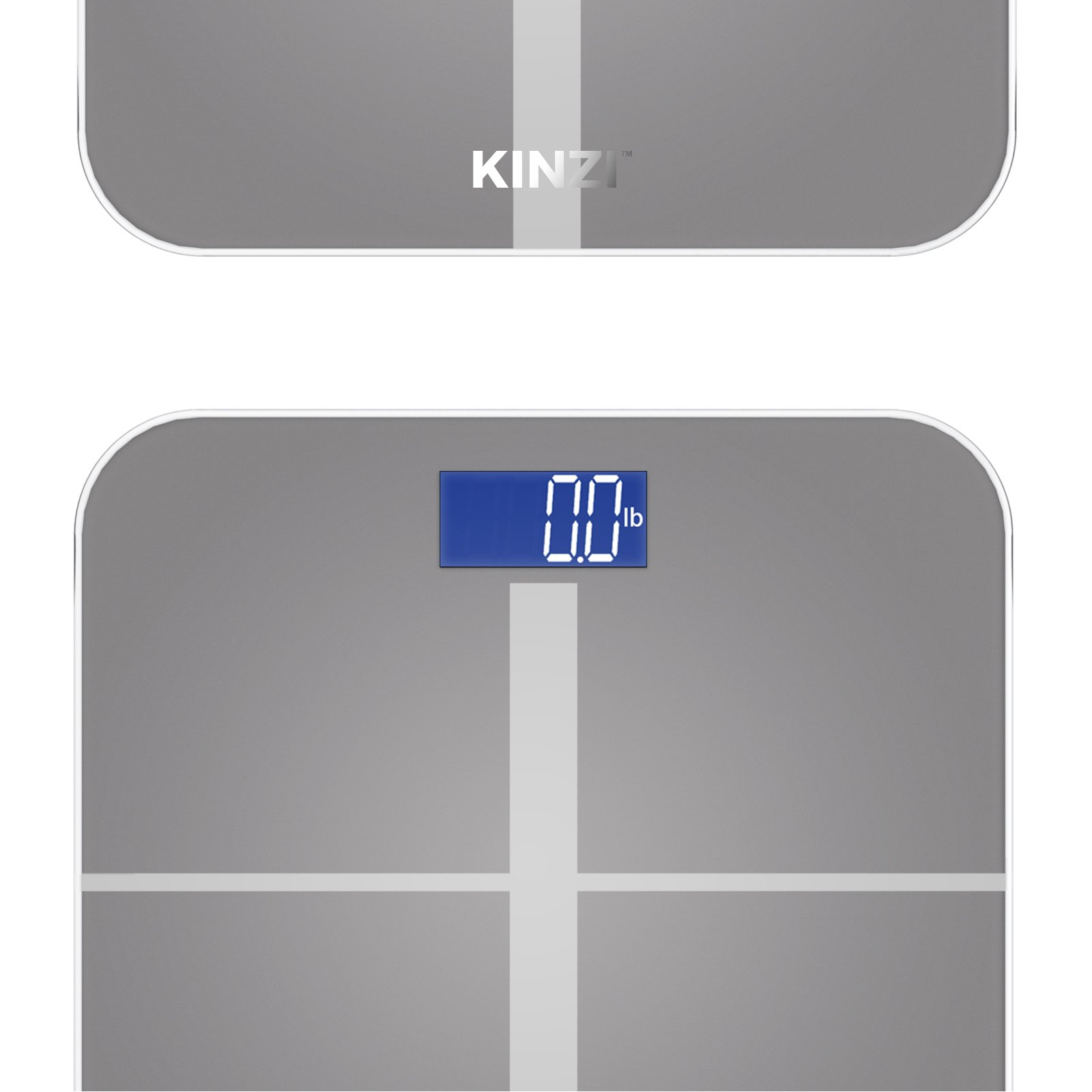 Kinzi Precision Digital Bathroom Scale w/ Extra Large Lighted Display, 400 lb. Capacity and ''Step-On'' Technology by Kinzi (Image #4)