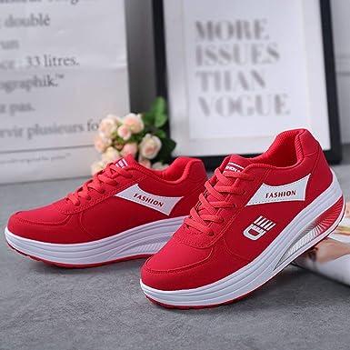 JiaMeng Zapatillas de Deporte para Correr Zapatillas de Deporte de Fondo Suave y Suave de Running Fitness Sneakers: Amazon.es: Ropa y accesorios