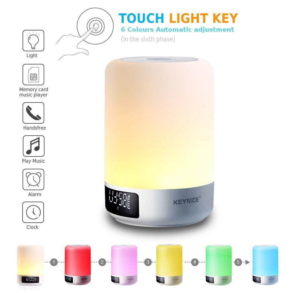 Ultima versión Keynice lamparita de noche lámpara de mesa con sensores táctiles